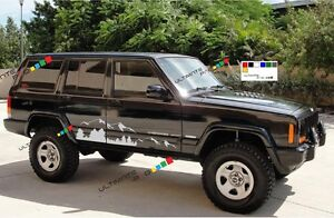 Decal Sticker For Jeep Cherokee Kit Mountain Guard Armor Winch Turbo Fender Lamp