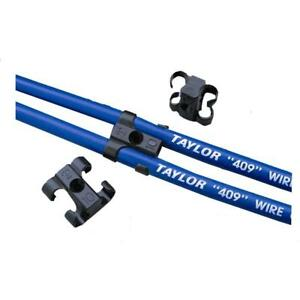 Taylor Spark Plug Wire Holder 42609 2 Wire Clip On Black Plastic 4 Pack
