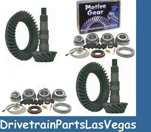 Chevy Gm 8 5 8 6 8 25 Ifs 4 11 Ratio Ring Pinion Gear Set Pkg 99 To 08 Motive