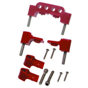 Taylor Spark Plug Wire Holder 42722 Red Nylon For Chevy Bbc