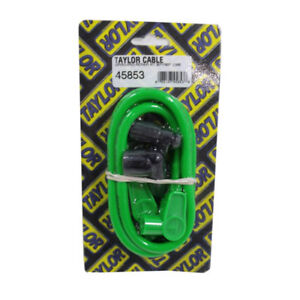Taylor Single Lead Spark Plug Wire 45853 8mm Hot Lime Spiral Core 90 180