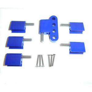 Taylor Spark Plug Wire Holder 42766 Blue Nylon For Chevy Bbc