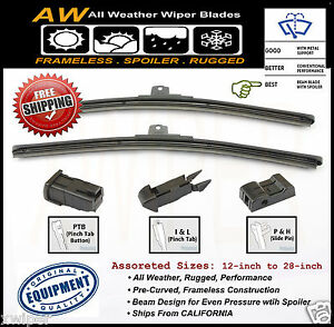 2pc 22 22 Direct Oe Replacement Premium All Weather Windshield Wiper Blades
