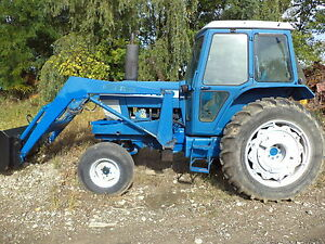 Ford 7700 Tractor With Loader Cab Diesel Pto heater Air Two Buckets