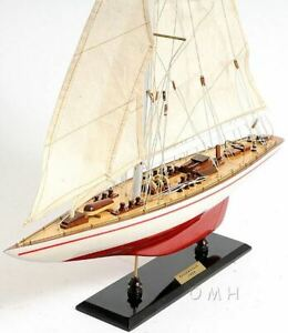 America S Cup Endeavour J Class Sailbboat 24 Wooden Model Yacht Assembled