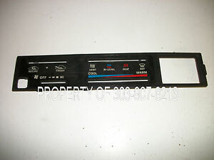 1984 89 Toyota Pickup Pick Up Truck 4runner 4 Runner Ac Heater Control Faceplate