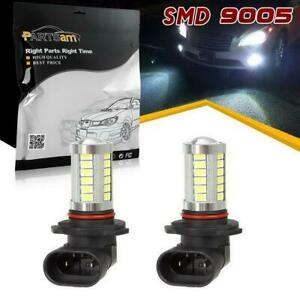 2x 9005 Hb3 9005xs White 6000k Led Bulbs Replacement Lamp For Fog Driving Light