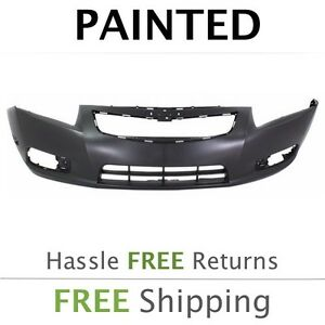 New 2011 2012 2013 2014 Chevy Cruze W O Chme Rs Front Bumper Cover Painted