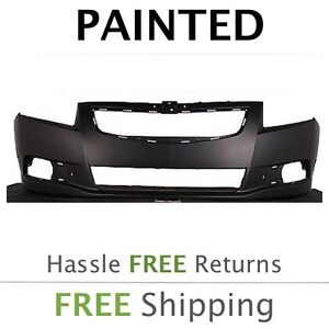 New 2011 2012 2013 2014 Chevy Cruze W Grill Insert Front Bumper Cover Painted