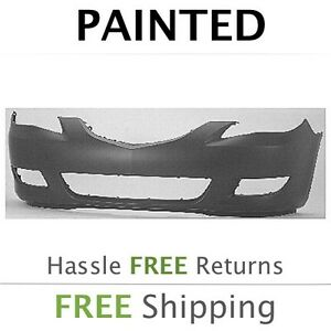 New Fits 2004 2005 2006 Mazda 3 Sedan Front Bumper Cover Painted Ma1000196