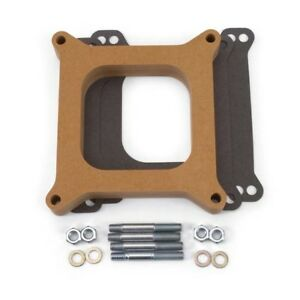 Edelbrock 8720 4 Barrel Carburetor Spacer Wood 1 Inch