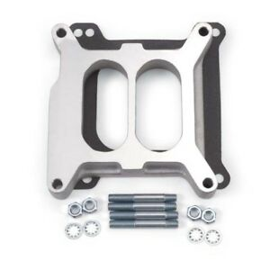 Edelbrock 8714 4 Barrel Carburetor Spacer Aluminum 1 Inch