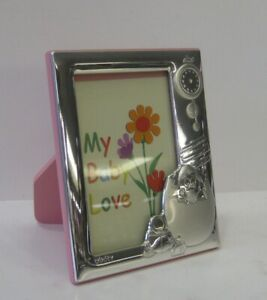 Italian 925 Sterling Silver Pink Baby Chick Egg 5 X 7 Picture Frame Itny2003r 3