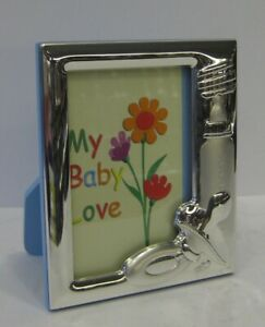 Trinity Italian 925 Silver Blue Baby Pacifier Bottle Picture Frame Itny2001c 3