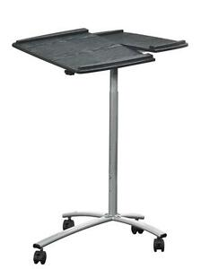 Modern Mobile Adjustable Height Laptop Desk With Wheel Coasters