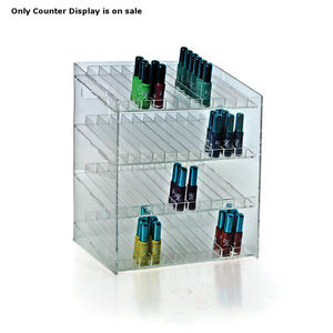 Retail 4 tiered 48 Compartment Cosmetic Counter Display For Pegboard Or Slatwall
