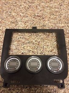 Lower Dash Finisher 3 52mm Gauge Pod Double Din Std For 95 98 Nissan 240sx S14
