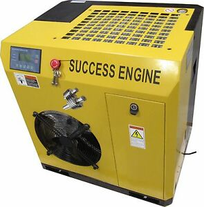 New Success Engine Sec5a 8 7 5hp Base Mount Rotary Screw Air Compressor No Tank