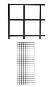 2 Panel New Black Finish Wire Grid Wall Panel Fits Wire Grid Fixtures 2 X 5