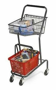 Mini 42 Inch Retail Store Shopping Cart Red Basket Included