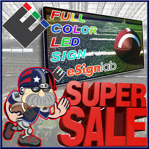 Led Sign Full Color 30 X 59 Programmable Scrolling Outdoor Message Display