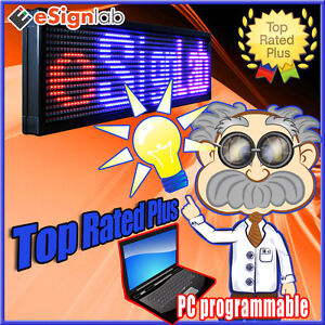 Led Sign 3 Color Rbp 35 X 85 Pc Programmable Scrolling Message Display