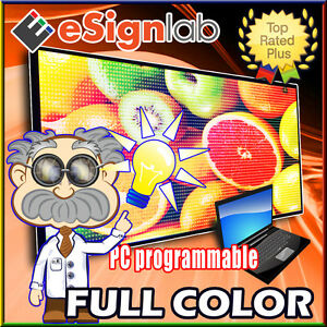 Led Sign Full Color 19 X 85 Programmable Scrolling Outdoor Message Display