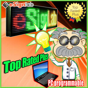 Led Sign 3 Color Rgy 35 X 102 Pc Programmable Scrolling Message Display
