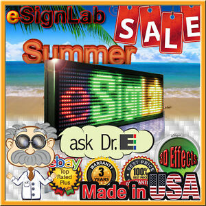Led Sign 3 Color Rgy 19 X 102 Pc Programmable Scrolling Message Display