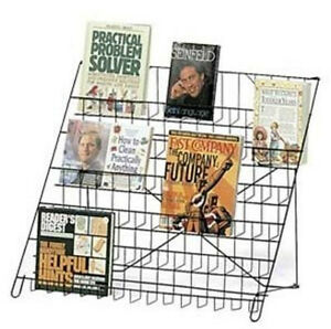 Wire Literature Black Display Rack 6 Tier Countertop Retail Rack Books Dvd cd