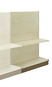 Metal Shelving Gondola Add on Aisle Units For Merchandise 60 h X 48 l X 36 w