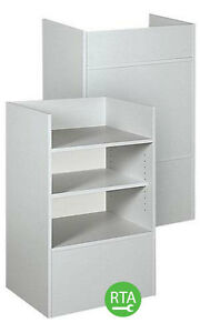 New Retails Gray Well Top Register Stand 38 h X 18 d X 24 l