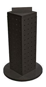 Styrene 4 Sided Pegboard Counter Display In Black 4w X 4d X 13h Inches