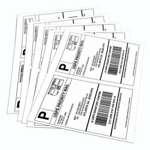 200 6000 Half Sheet 8 5x5 5 Shipping Labels Self Adhesive For Paypal Usps