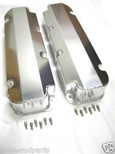 Big Block Ford Tall Fabricated Alum Valve Covers 429 460 Bbf Racing No Holes