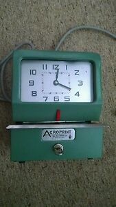 Acroprint Model 125nr4 Manual Time Recorder 183797jr