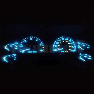 Dash Cluster Gauge Aqua Ice Blue Led Light Bulbs Kit Fits 97 01 Jeep Cherokee Xj