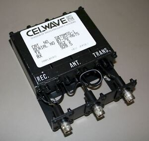 Celwave Uhf Duplexer 928 960 Mhz 4 cavity Bnc bnc bnc Tuned To 928 5 952 5 Mhz