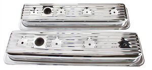 Centerbolt Center Bolt Chrome Valve Covers Vc Pr For Sbc Chevrolet Gmc