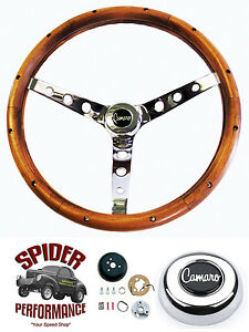 1967 Camaro Steering Wheel 15 Classic Walnut