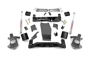 Rough Country Chevy Gmc 1500 Pickup 5 Lift Kit 14 17 4wd Cast Steel Arm Models
