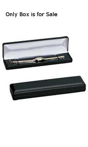 Pack Of 10 New Retails Black Faux Leather Bracelet watch Box 8 X 2 X 1