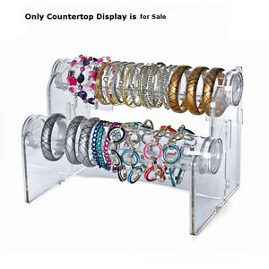 2 tier Horizontal 12 Long Countertop Bracelet Display 10 5 W X 5 5 H X 4 D