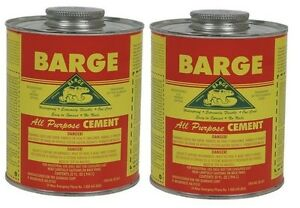 2 Quart 32oz Barge Rubber Contact Cement Glue Adhesive Waterproof Applicator
