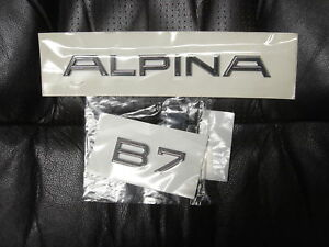 Bmw F01 F02 E65 E66 B7 Alpina Genuine Trunk Emblems decals badge Set New 2002 up