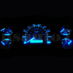 Dash Cluster Gauge Aqua Blue Led Lights Bulbs Kit Fits 92 96 Ford F150 F250 F350