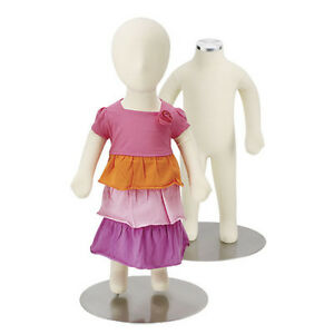 Flexible Children s Mannequin With Removable Head Piece 3 Months Measurements