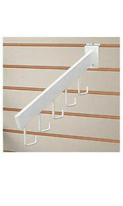 Count Of 10 White Waterfall Slatwall Faceout 5 J hooktube Availableinblack