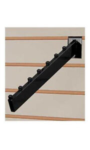 Count Of 10 Black Waterfall Slatwall Faceout 7 Cubetube Available In Black