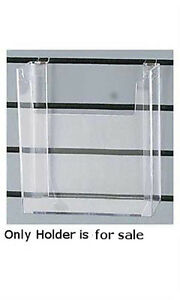 Styrene Literature Holder 8 w X 11 h For Use With 3 On Center Slatwall